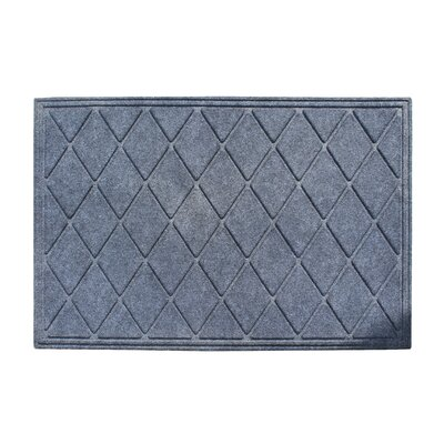 Albertina Diamond Eco-Poly Indoor/Outdoor Doormat Color: Dark Gray