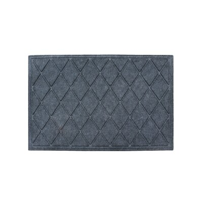 Albertina Diamond Eco-Poly Indoor/Outdoor Doormat Color: Charcoal Gray