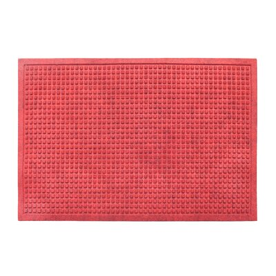 Eco-Poly Indoor/Outdoor Doormat Color: Red