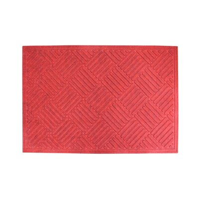 Dionysius Eco-Poly Indoor/Outdoor Doormat Color: Red