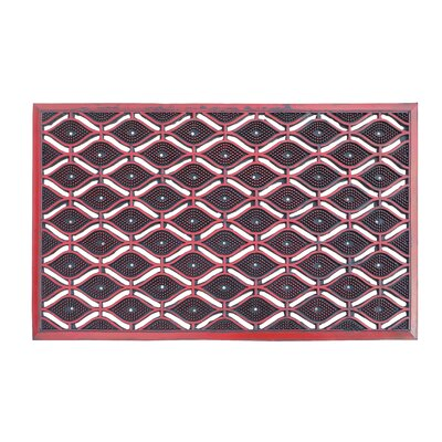 Ricker Eye Heavy Duty Eco-Poly Indoor/Outdoor Doormat Color: Red