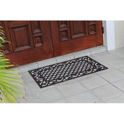 Albertina Artistic Border Indoor/Outdoor Rubber Doormat