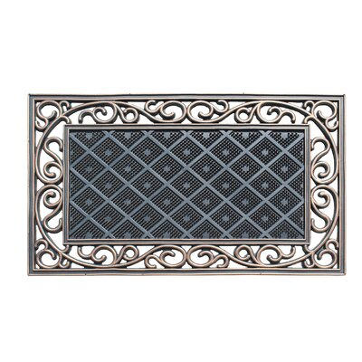 Bradford Diamond Artistic 100% Rubber Indoor/Outdoor Doormat