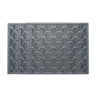 Leaf Pattern Natural Rubber Residential/Commercial Doormat