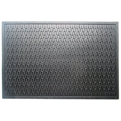 Natural Rubber Geometric Residential/Commercial Doormat
