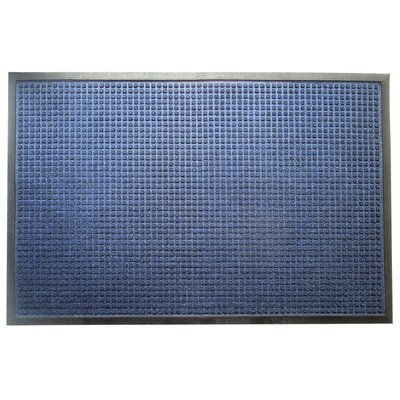 Solid Rub-Poly Multi Utility Indoor/Outdoor Utility Mat Mat Size: Rectangle 27 x 4, Color: Blue