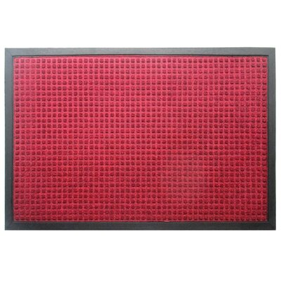 Solid Rub-Poly Multi Utility Indoor/Outdoor Utility Mat Mat Size: Rectangle 2 x 3, Color: Red
