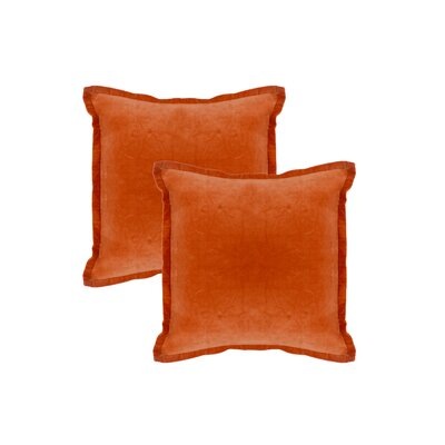 Knauer Hand-Crafted Designer Throw Pillow Color: Tangerine
