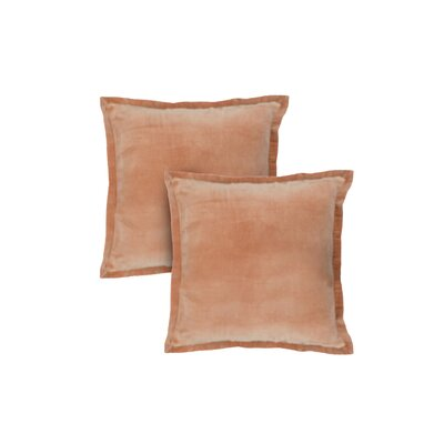 Chartrand Hand-Crafted Designer Throw Pillow Color: Peach