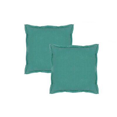 Knauer Hand-Crafted Designer Throw Pillow Color: Sea-foam Green