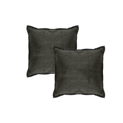 Knauer Hand-Crafted Designer Throw Pillow Color: Dark Black