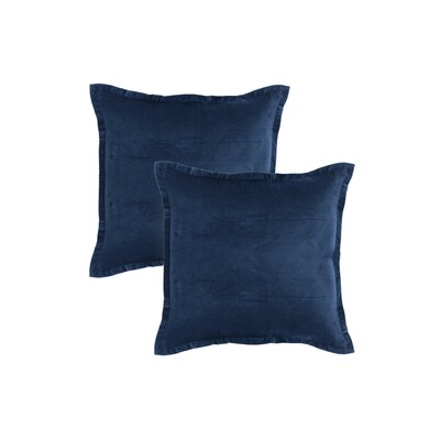 Knauer Hand-Crafted Designer Throw Pillow Color: Navy Blue