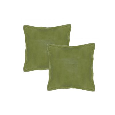 Chartrand Hand-Crafted Designer Throw Pillow Color: Olive Green