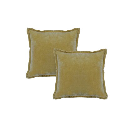 Chartrand Hand-Crafted Designer Throw Pillow Color: Lime Yellow