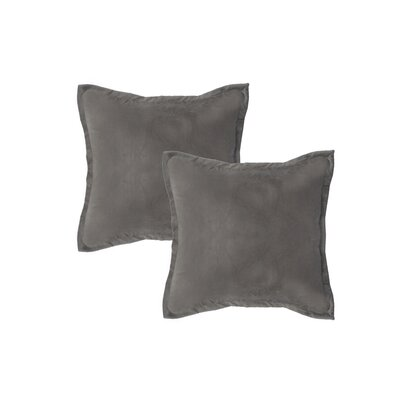 Chartrand Hand-Crafted Designer Throw Pillow Color: Dove Gray