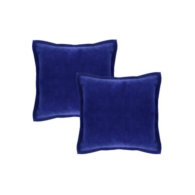 Chartrand Hand-Crafted Designer Throw Pillow Color: Blue