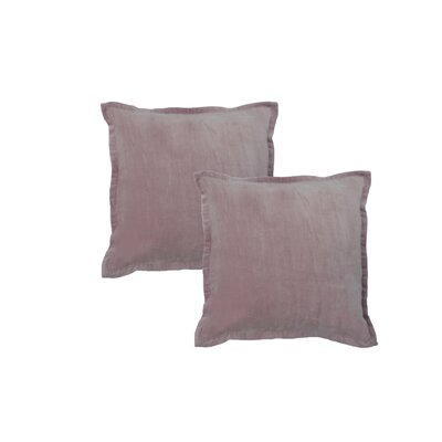 Chartrand Hand-Crafted Designer Throw Pillow Color: Mauve