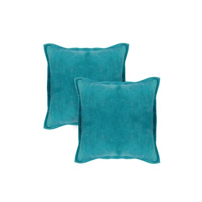 Chartrand Hand-Crafted Designer Throw Pillow Color: Teal Blue