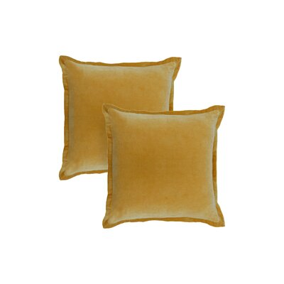 Chartrand Hand-Crafted Designer Throw Pillow Color: Mustard Yellow