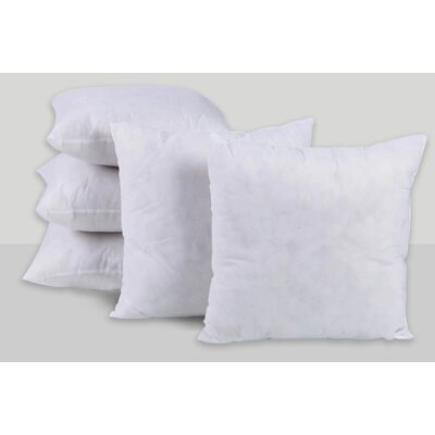 Solid Sterilized Extra Fill Hypoallergenic Pillow Insert Size: 20 x 20