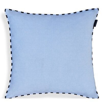 Crader Handcrafted 100% Cotton Throw Pillow Color: Light Blue