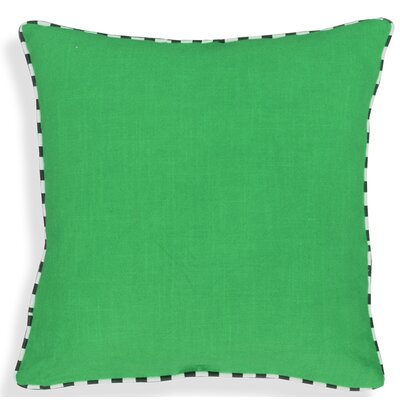 Crader Handcrafted 100% Cotton Throw Pillow Color: Green