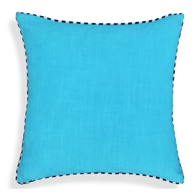 Crader Handcrafted 100% Cotton Throw Pillow Color: Sky Blue