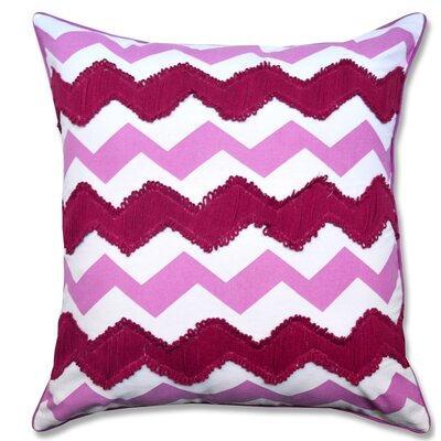 Crabill Chevron Embroidered 100% Cotton Throw Pillow Color: Purple