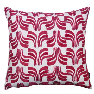 Warnke Geometric Embroidered 100% Cotton Throw Pillow Color: Purple