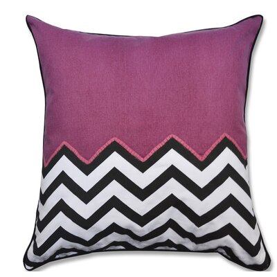 Crabill Chevron Half Solid 100% Cotton Throw Pillow Color: Purple