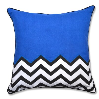 Crabill Chevron Half Solid 100% Cotton Throw Pillow Color: Blue