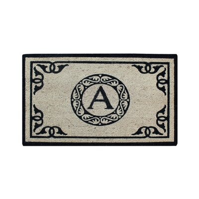 Hagerty Bleach Printed Doormat Letter: A