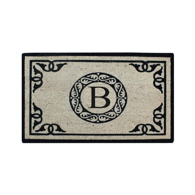 Hagerty Bleach Printed Doormat Letter: B
