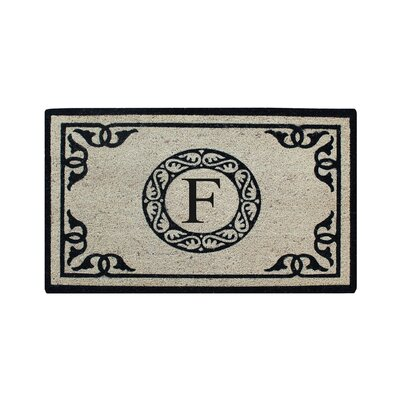 Hagerty Bleach Printed Doormat Letter: F