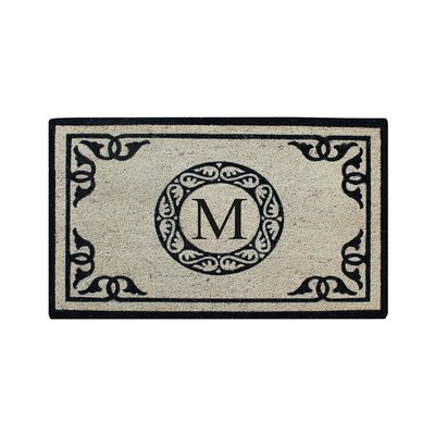 Hagerty Bleach Printed Doormat Letter: M