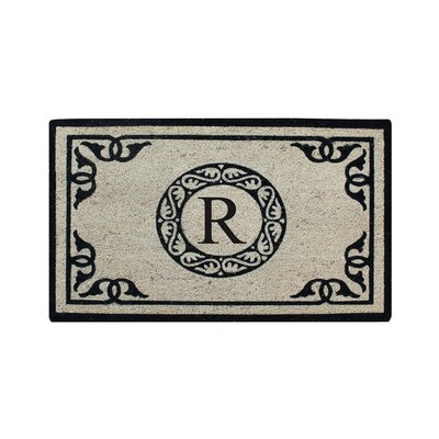 Hagerty Bleach Printed Doormat Letter: R