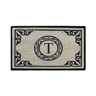 Hagerty Bleach Printed Doormat Letter: T