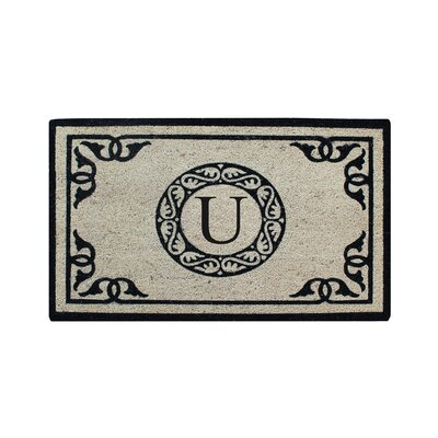 Hagerty Bleach Printed Doormat Letter: U