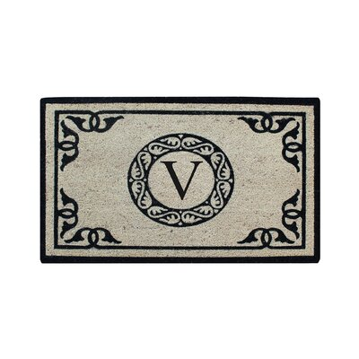 Hagerty Bleach Printed Doormat Letter: V