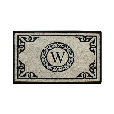Hagerty Bleach Printed Doormat Letter: W