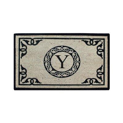Hagerty Bleach Printed Doormat Letter: Y