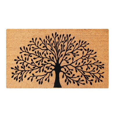 First Impression Hand Crafted Shredding Tree Coir Flocked Doormat