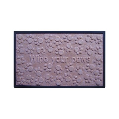 Wipe Your Paws Molded Doormat