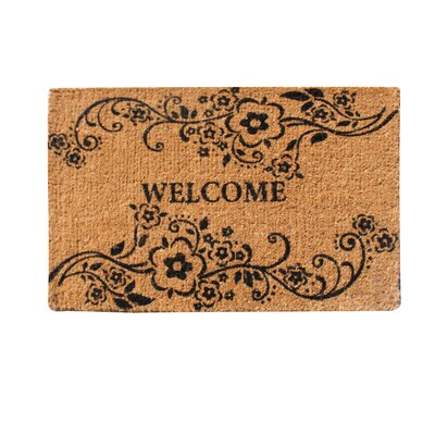 Floral Welcome Doormat