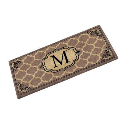 First Impression Gayle Ogee Doormat Letter: M