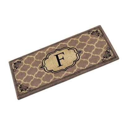 First Impression Gayle Ogee Doormat Letter: F
