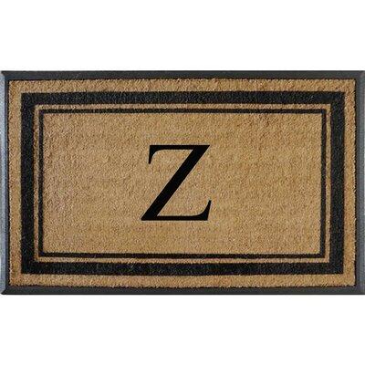 First Impression Markham Border Doubledoor Monogrammed Doormat Letter: Z