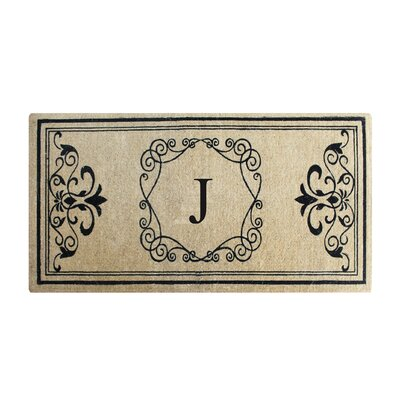 First Impression Hayley Monogrammed Entry Double Doormat Letter: J