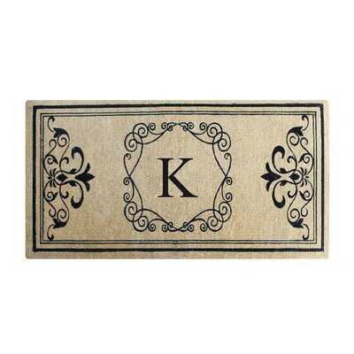 First Impression Hayley Monogrammed Entry Double Doormat Letter: K