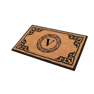 First Impression Geneva Monogrammed Doormat Letter: V